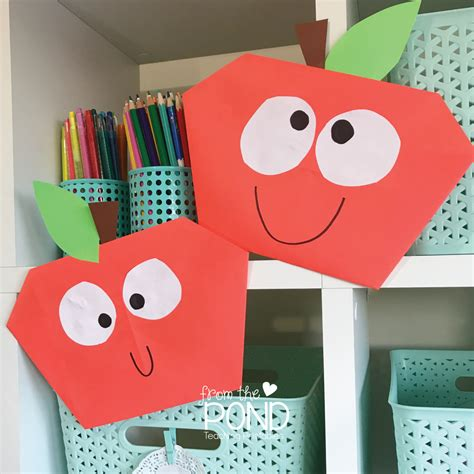 apple paper craft easy apple paper craft from the pond