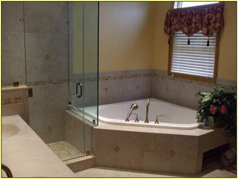 Home Decor Small Corner Tub Shower Combo Freestanding Corner Tub Bathroom Ideas