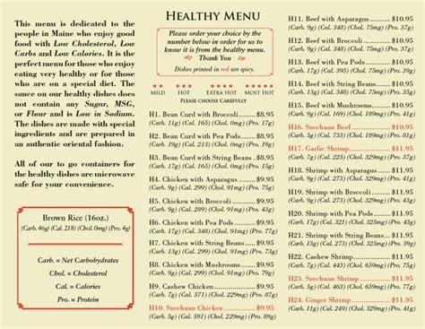 A Healthier Menu by Healthy Restaurant Menu Ideas Liss Cardio Workout