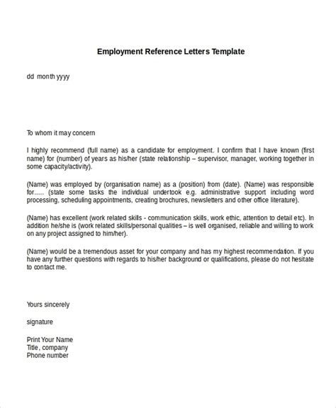 best ideas of 14 professional reference letter template free sample
