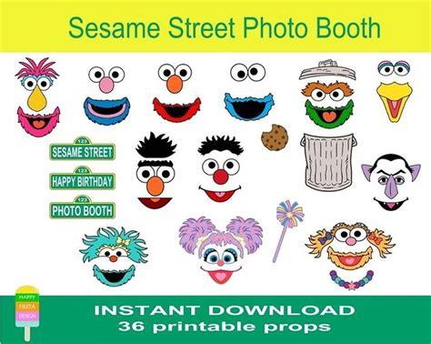 elmo photo booth props printable happy fiesta design printable photo booth props sesame