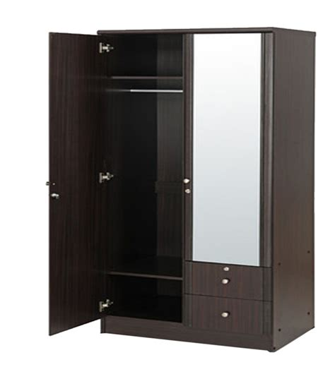 Mirror Wardrobe Doors Price by Solid Wood 2 Door Wardrobe With Mirror Buy At Best