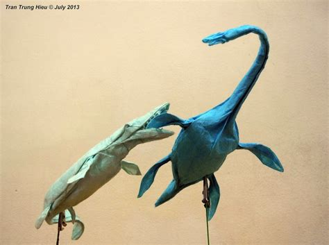 Realistic Origami - adam s origami recreations of dinosaurs