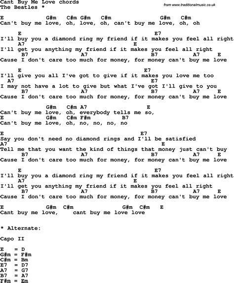 can t buy me testo song lyrics with guitar chords for can t buy me the