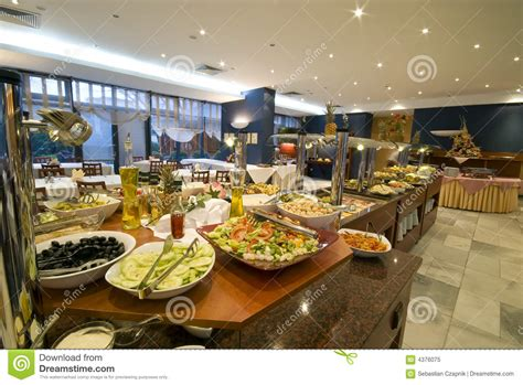 Buffet Set Up Dining Room Layout Buffet In Hotel Dining Room Royalty Free Stock Photo