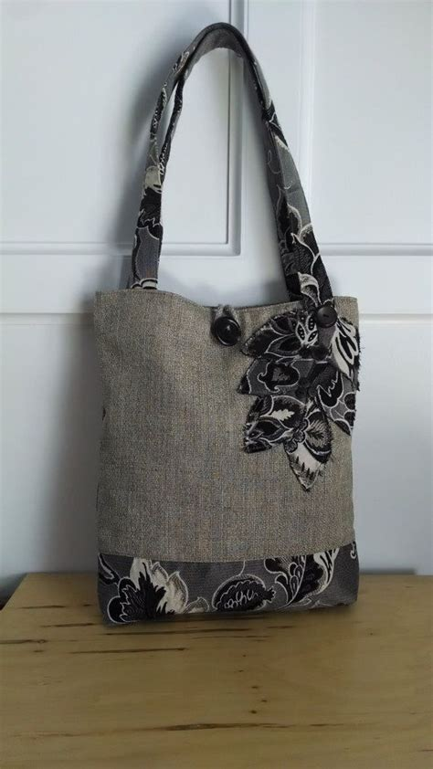 Handmade Bags For - black tote bag brown purse floral handbag travel tote