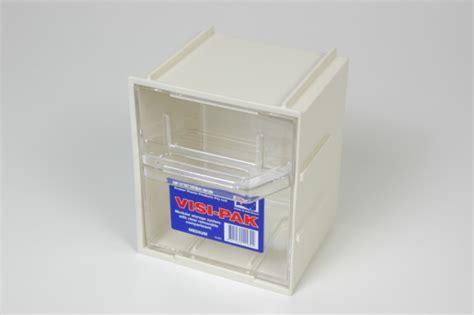 clear plastic drawers nz xin medium visi pak bin with clips stowers plastics