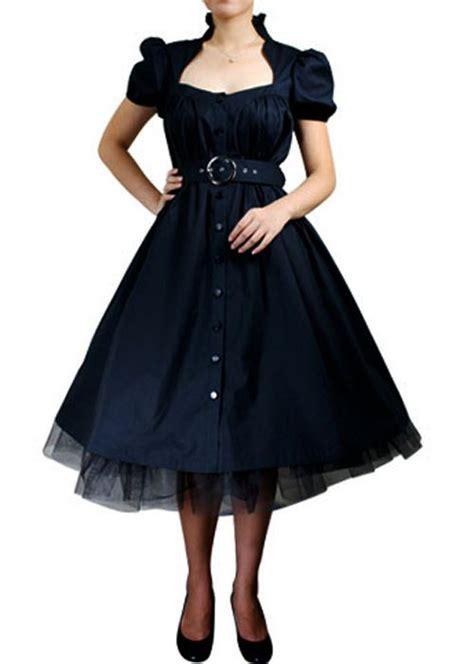 formal swing dress rk7 belted ruffle dress rockabilly formal swing 50s 40s