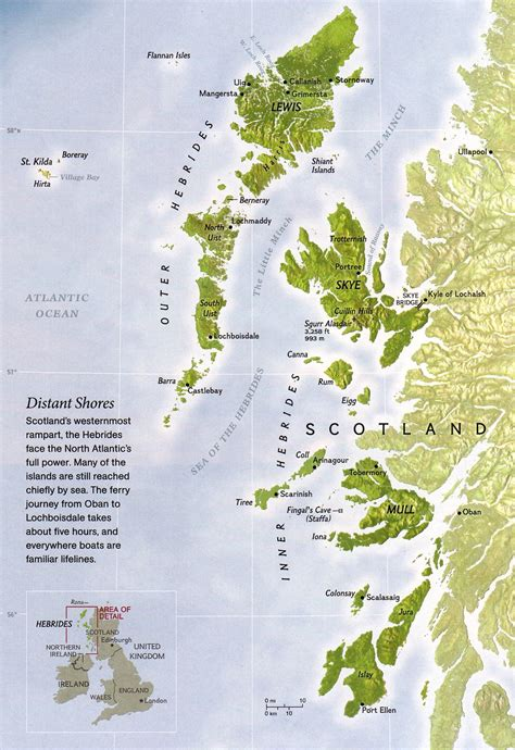 the hebrides by the hebrides islands map hebrides mappery