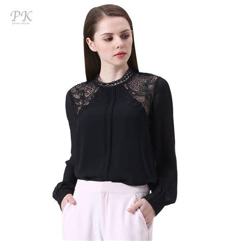 Top Blouse aliexpress buy pk black lace blouse 2017 tops blouses shirts feminine cuff