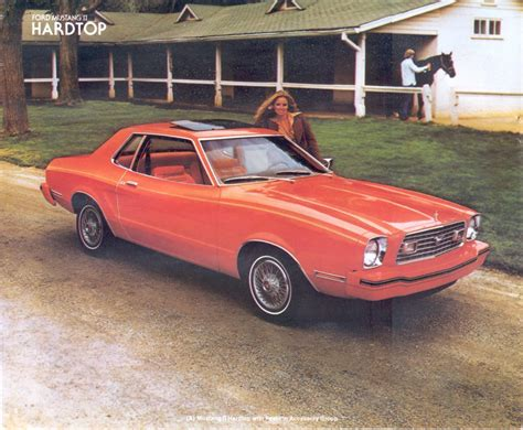 1978 ford mustang ii tangerine orange 1978 ford mustang ii coupe