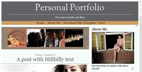 Blogger Buster Free Blogger Template Responsive Portfolio Personal Portfolio Template Free