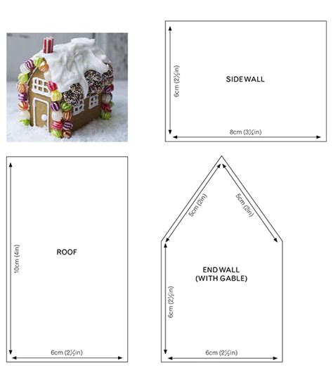 Template For Gingerbread House by Gingerbread House Plans Pdf