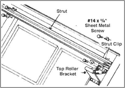 Garage Door Top Strut by Detailed Garage Door Installation