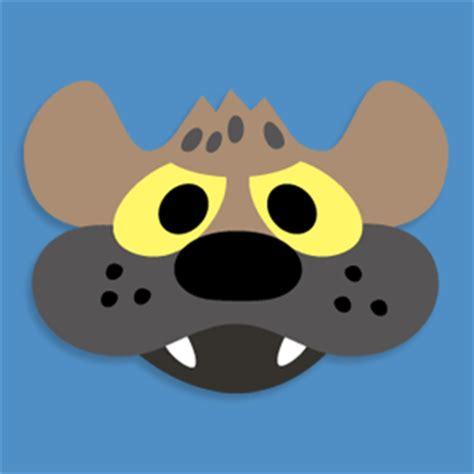 printable hyena mask template masketeers printable masks february 2012