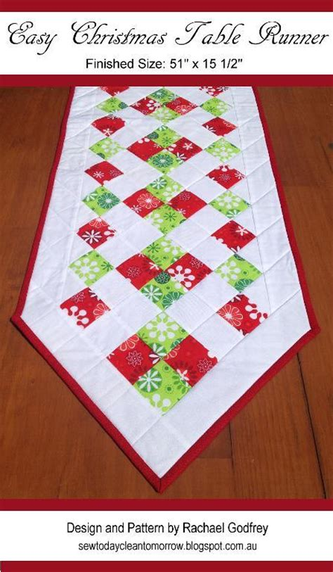 sew easy table 7 free table runner patterns to dress up your home