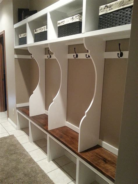 mudroom plans garage lockers on pinterest garage cabinets mud room