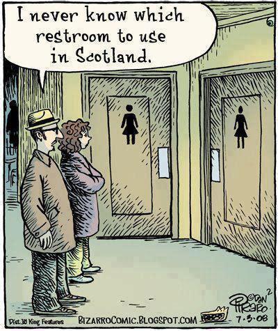 scottish bathroom signs scottish