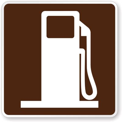 the color of a motorist service sign is gas symbol general information sign rm 060 sku x rm 060
