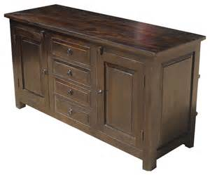 wood sideboard buffet shaker rustic wood buffet 4 drawer storage sideboard