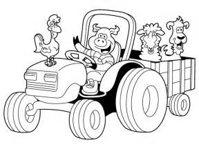 Simple Tractor Coloring Coloring Pages Coloring Page Tractor