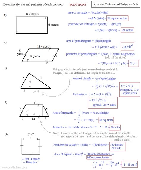 Perimeter Of Polygons Worksheet by Free Worksheet Area Of Quadrilaterals Worksheet Phinixi