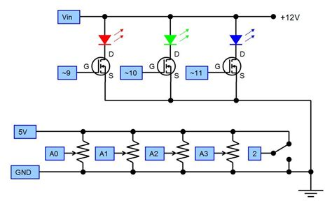 transistor mosfet led arduino mosfet when powering an led electrical engineering stack exchange