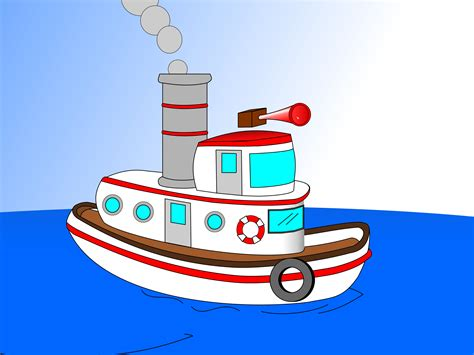tugboat cartoon clipart animated cartoon tugboat