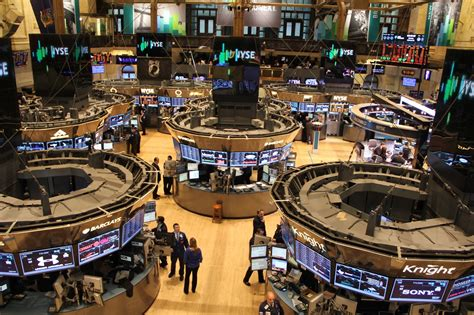 Stock Market Floor by Nyse Halts Trading To Honor Dow Jones For Hitting 21 000