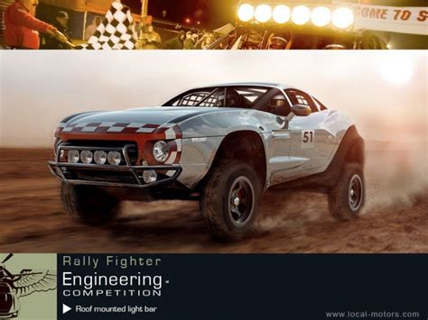 rally fighter light bar competition car design
