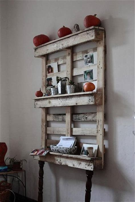12 diy wooden shelves made from pallets pallet furniture diy