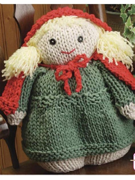 small knitted patterns pillow doll
