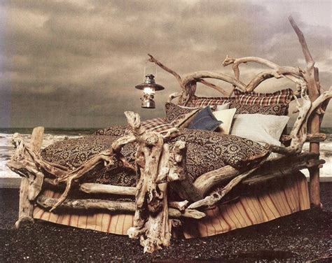 driftwood bed bed of driftwood eclectic bedroom