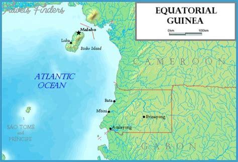 guinea ecuatorial map guinea map tourist attractions travelsfinders