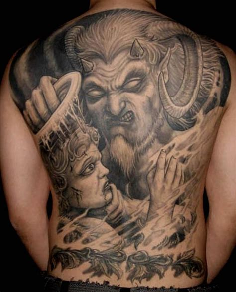 tattoo angel vs demon 54 angel tattoos on full back