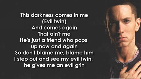 Eminem Evil Twin Lyrics | eminem evil twin lyrics hd hq youtube