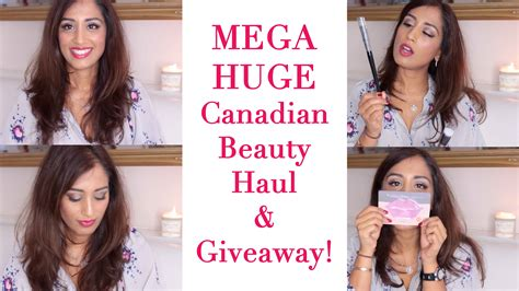 Canadian Giveaways - the video huge canadian haul giveaway beauty passionista