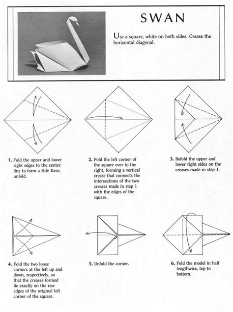 Paper Swan How To Make - free coloring pages how to make d origami swan part swan