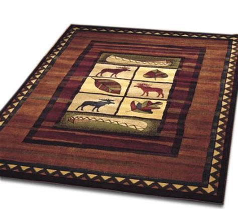 area rugs for log cabin homes rustic moose area rug brown lodge log cabin canoe decor scarbrough faire