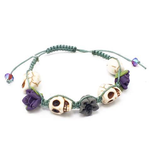 shamballa bead bracelet kits floral skull shamballa style bracelet kit teal the
