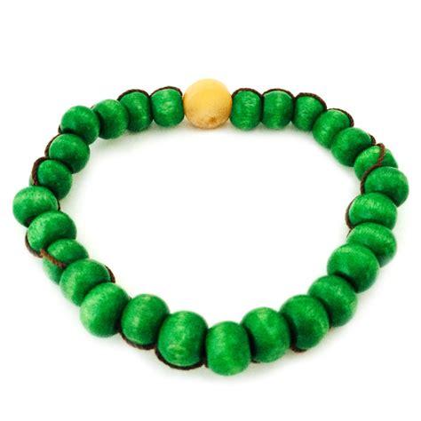 wood bead bracelet green wood bead bracelet