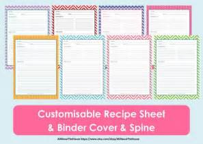 printable recipe book template printable recipe sheet template recipe card recipe