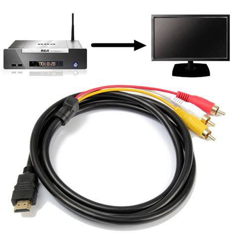 Kabel Hdmi 3 In 1 Kode Ss5386 1 audio av adapter cinch kabel hdmi stecker auf 3 rca