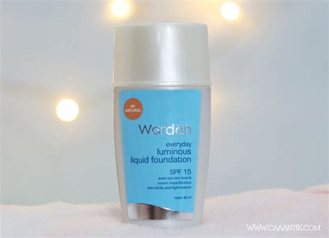 Foundation Wardah Foundation Untuk Kulit Cokelat Wardah Luminous Foundation