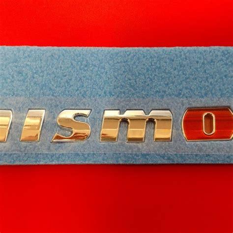 Emblem Nismo genuine rear nismo emblem 2014 370z nissan race shop