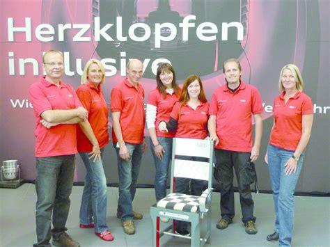 Vodafone F R Audi Mitarbeiter by Audi Mitarbeiter Gestalten Stuhl F 252 R Guten Zweck Magazin