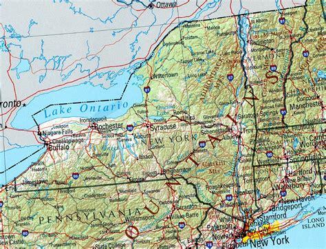 New York On A Map by New York Reference Map