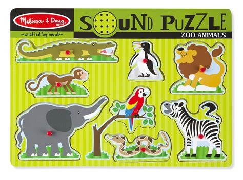 Spesial Knob Puzzle Zoo Animals zoo animals sound puzzle doug