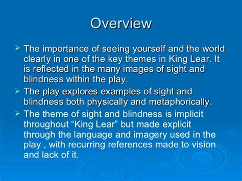 themes in king lear act 4 sight and blindness in king lear