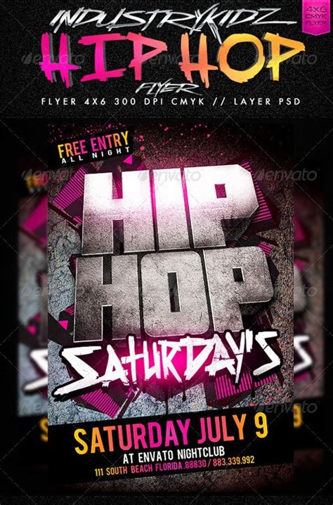free hip hop flyer templates top 10 best hip hop psd flyer templates